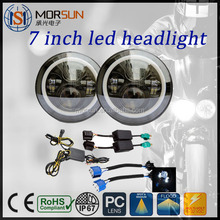 Promotion auto 4x4 accessories Angel Eye 45W DOT Approved Round Head Light with Halo ring for JK