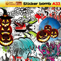 New Style Unique Custom Designs Car Sticker Graffiti Bomb For Sell Made from China 152x3000cm A33