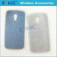 Alibaba Express Cell Phone Accessory Ultra Thin Bling Glitter Tpu Clear Back Cover Case For Moto-G2