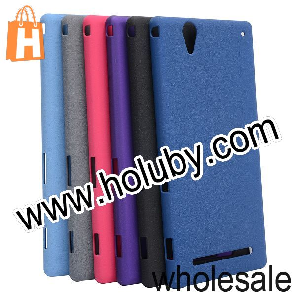 Ultrathin Quicksand style Hard PC Case for Sony Xperia T2 Ultra Back Cover