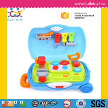 2016 Huile Toys kids tool box set toys with music