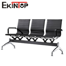 Beauty hair salon metal frame waiting chair with PU pad seat and back