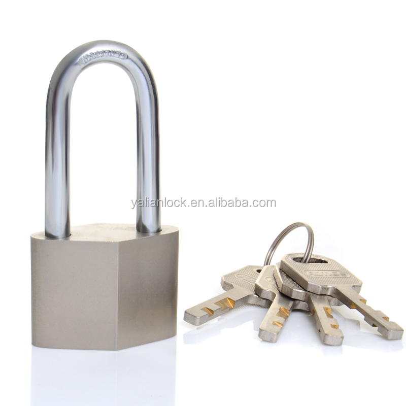 Professional New Product Type long Shackle Vane key Diamond Padlock