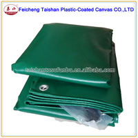 560gsm Fireproof dark green pvc tarpaulin truck cover sheet