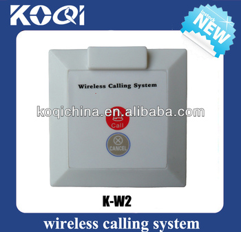 Office desk bell K-W2 CALL CANCEL pager transmitter