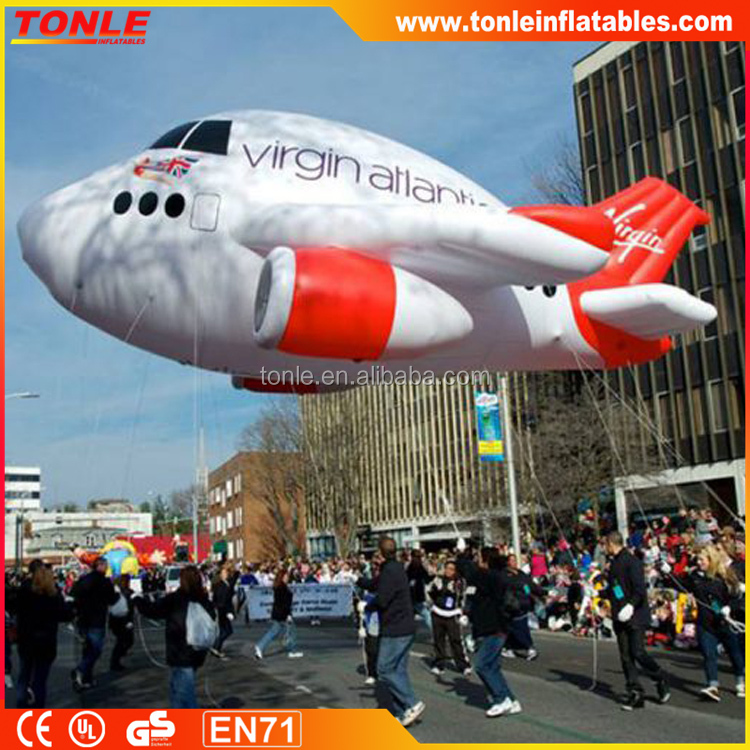 large high quality Inflatable airplane/ customized inflatable airship helium balloon for sale