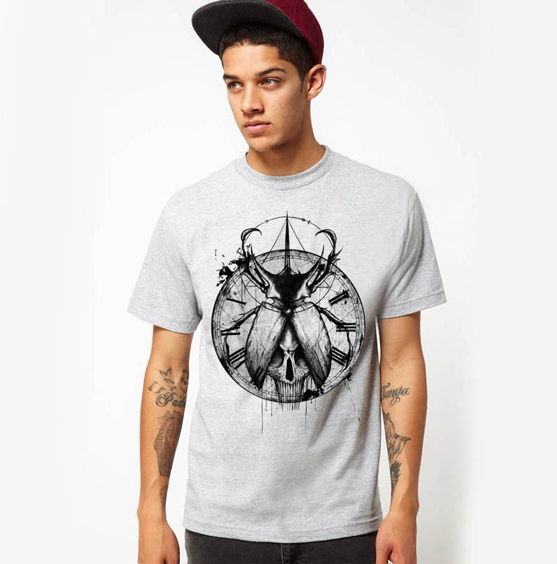 e980da1c185 Buy Men  39 s printed cotton T-shirt printing short-sleeved cotton insect  geometric patterns summer shirts for men tight mens shirts in Cheap Price on  ...