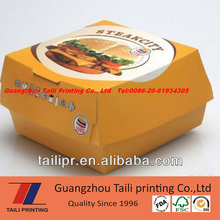 disposable paper hamburger box burger box with cheap price