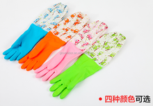 thick rubber gloves extra long latex household rubber cleaning gloves