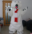 Hola polar bear mascot costume/realistic bear costume for sale