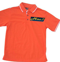 Promotional T Shirt Orange - Polo Shirts with Logo ( ISO 9001 - 2008 Fabric )