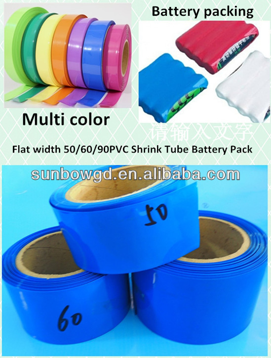Battery packaging PVC heat shrinkable tubing