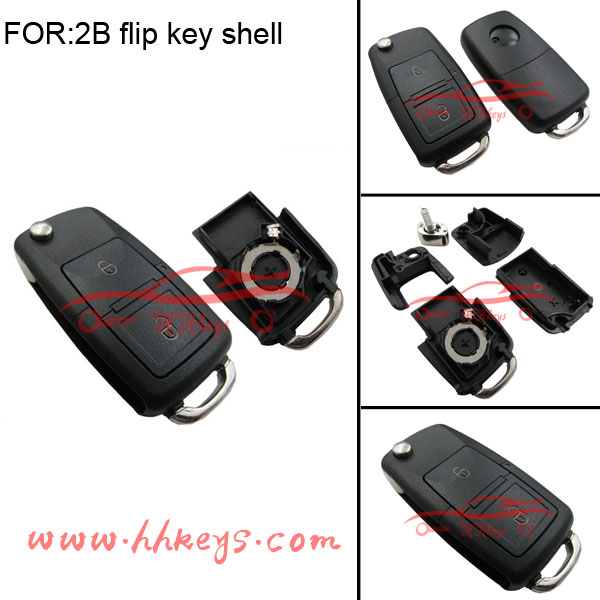 2buttons flip key case replacement remote car key for VW Volkswagen Golf MK4 Bora