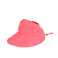 6 Colors Wholesale Sun Hat Beach Cap Women Casual Solid Summer Folding Topless Large Brimmed Hat