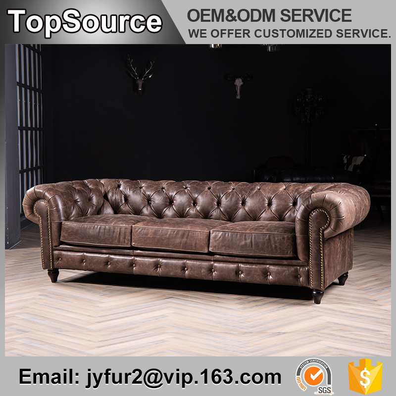 Wholesale Home Furniture European Style Genuine leather recliner sofa