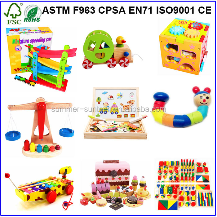 Yiwu wooden toys ECO friendly eductaional toys