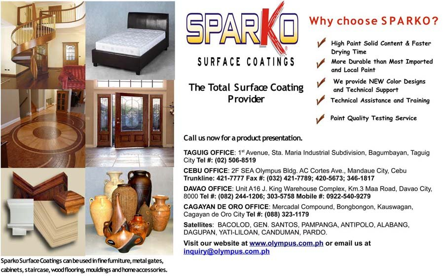 SPARKO SURFACE COATINGS