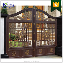 Modern house wood and iron iron gate design NTIG-015Y