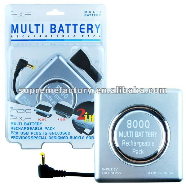 For PSP 3000 2000 1000 Multi Battery Silver