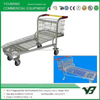 Chinese factory warehouse steel cargo flat trolley