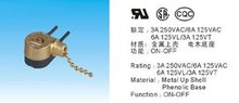 JX-42M--Rating:3A 250VAC / 6A 125 VAC /ceiling fan pull chain switch