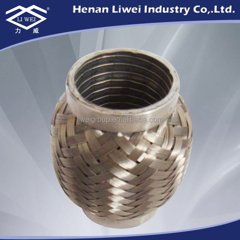 Flexible stainless steel exhaust gas pipe bellows