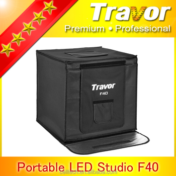 Simple and fast folding Led box studio F40 with Travor brand