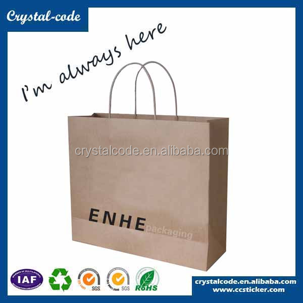 Custom eco-friendly printing wax kraft paper bags for cement