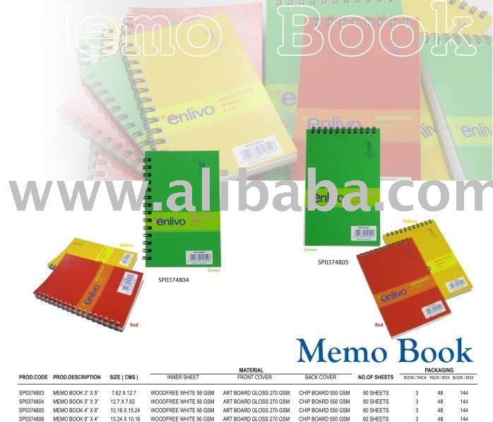 Enlivo Memo books