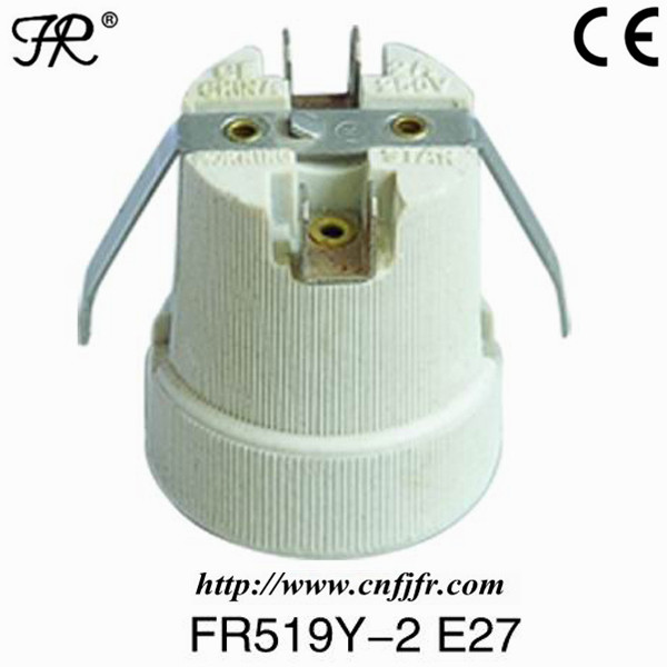 CE listed ceramic e27 lamp base outlet