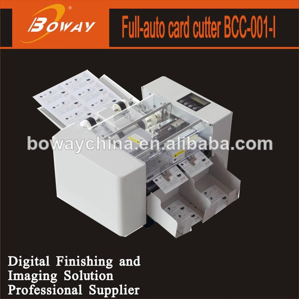 Boway service Multi function high speed A4 automatic business card cutter machine