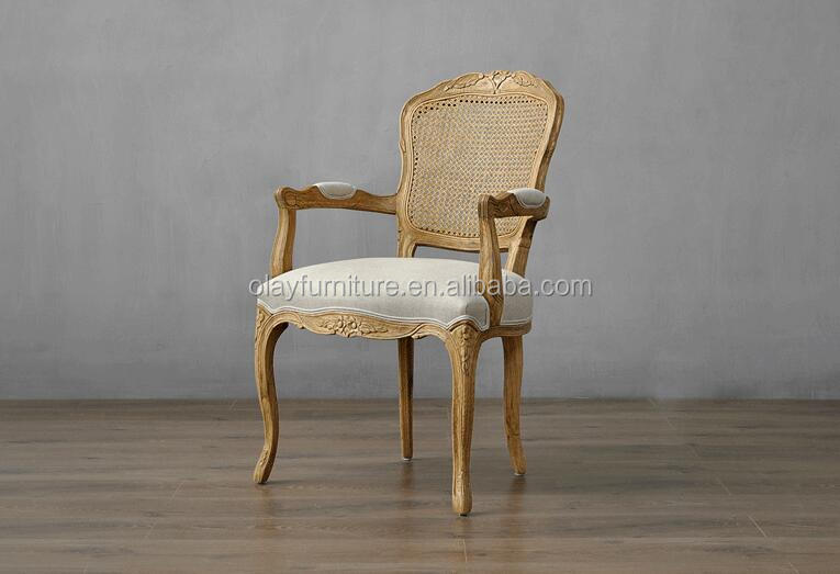 French provincial arm chair wooden <strong>antique</strong> chair with armrest