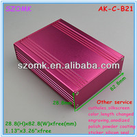 szomk colors custom aluminum extruded enclosure