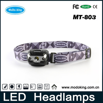 Factory supply light weight waterproof high power led headlamp with head strap