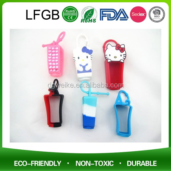 2017 Hot Sale Waker Silicone BBW 3D Animal Shape Silicone Pocketable Hand Sanitizer Holder