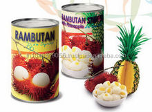 RAMBUTAN STUFFED WITH PINEAPPLE CANNED in SYRUP THAILAND