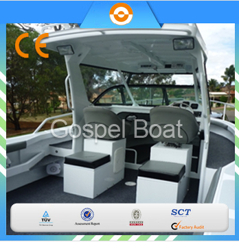 Center Cabin 6.25M aluminum boat for sale with bait board