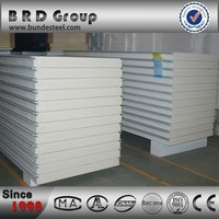 poliuretan foam insulation cladding board stainless steel sandwich panel