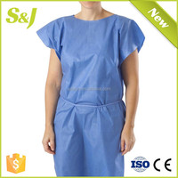 Children Patient Gown with Short Sleeve