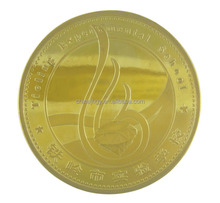 Die casting plated real fake gold trump challenge coin