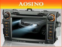 7 inch double din Car DVD Player for TOYOTA COROLLA 2007-2011 with car GPS navigation bluetooth car audio