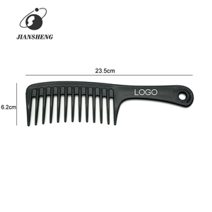 Custom LOGO Wide Tooth Plastic Hair Comb Wholesale