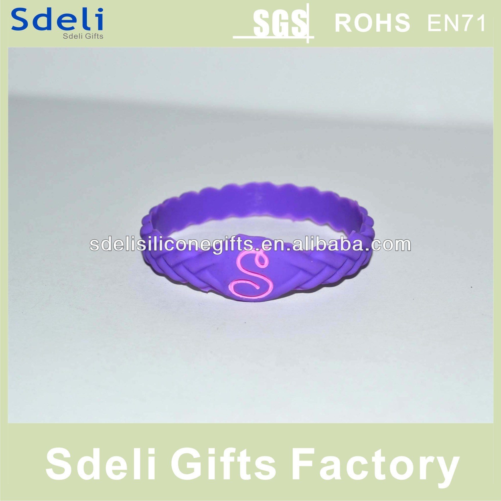 manufacture ot sale mold popular promotional customized debossed silicone wristband/silicone rubber bracelet