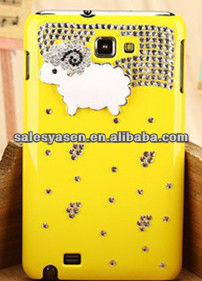 transparent for galaxy note 2 diamond case sheep design