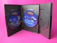 Hot sale cd dvd cases plastic dvd case with outer sleeve