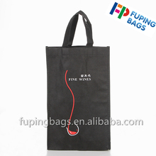 red simple small pp non woven wine bag r6 bottle wine bag