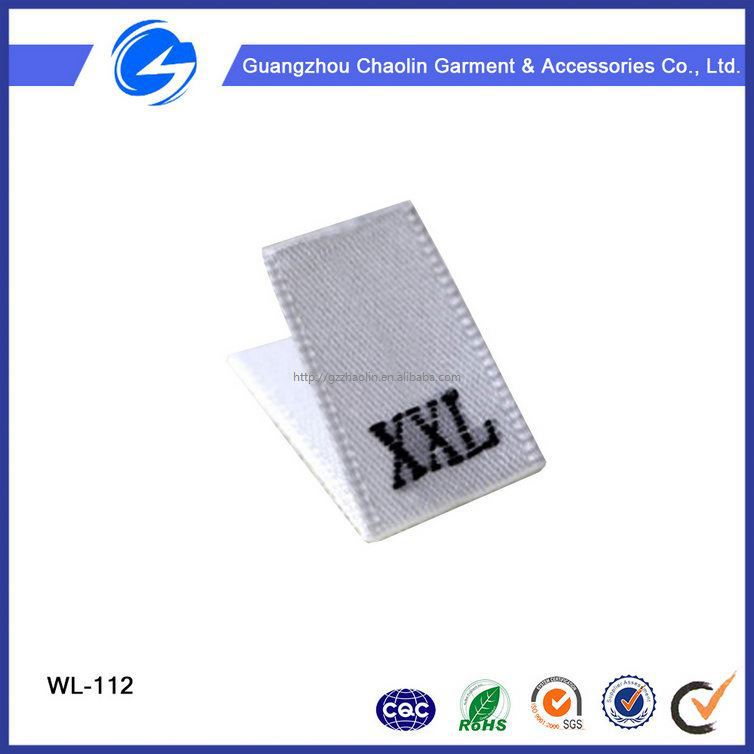 Private Brand Name Polyester Apparel Clothing Garment Fabric Label 100% Polyester Care Woven Label