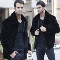 Winter Warm Faux Fur Coat For Men