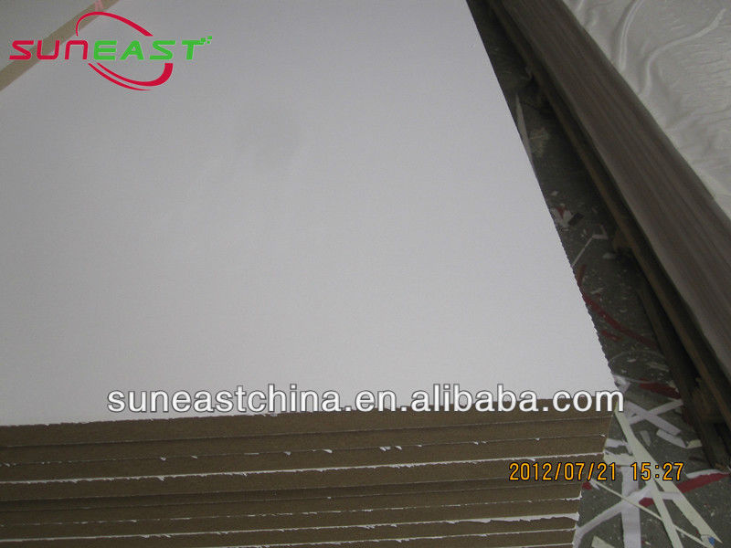 paneling MDF, fire rated MDF board, 5mm white melamine faced MDF board