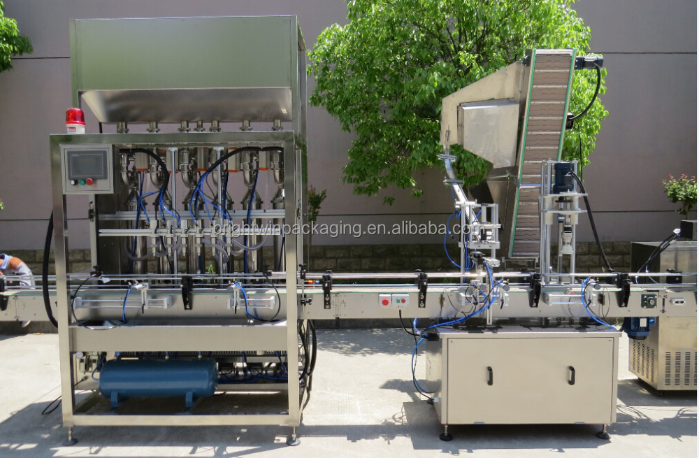 manufacturer sale bottle filling capping machine with video